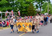 WOLCOTT, CT. 28 May 2018-052818BS352 - Wolcott Cub Scouts Pack 230 marches in the 2018 Wolcott Memorial Day Parade on Monday evening. Bill Shettle Republican-American