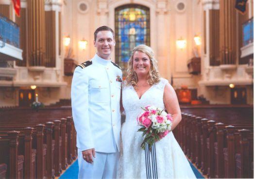 Mrs. and Lt. William Gurzynski. Contributed