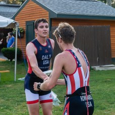 Scenes from the 32nd annual Pat Griskus Sprint Triathalon at Quassy Amusement Park in Middlebury, CT on Wednesday evening. Bill Shettle Republican-American