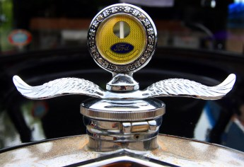 A moto-meter on a 1929 Ford Model A at the second annual St. Vincent Ferrer Church Car Show in Naugatuck Sunday. Steven Valenti Republican-American
