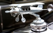 A hood ornament on a 1930 Ford Model A at the second annual St. Vincent Ferrer Church Car Show in Naugatuck Sunday. Steven Valenti Republican-American