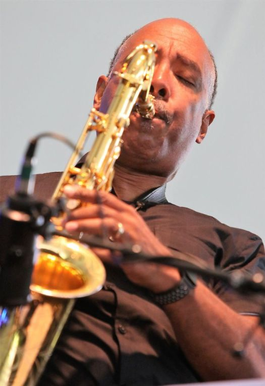 GOSHEN, CT - 6 August 2017 - 080617JM03 - Don Braden plays saxophone for the Litchfield Jazz Orchestra Plays Carly Simon and Carol King during its performance at the Litchfield Jazz Festival at the Goshen Fairgrounds on Sunday. John McKenna Photo