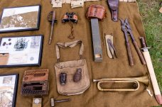 TORRINGTON, CT. 28 July 2018-072818BS10 - Authentic WW I artifacts sit on display during the WW I Living History Day at the Torrington Historical Society in Torrington, CT on Saturday afternoon. Bill Shettle Republican-American