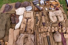 TORRINGTON, CT. 28 July 2018-072818BS10 - Authentic WW I clothing and gear sit on display during the WW I Living History Day at the Torrington Historical Society in Torrington, CT on Saturday afternoon. Bill Shettle Republican-American