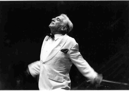 PHOTO CREDIT: Walter H. ScottLeonard Bernstein at Tanglewood in 1981