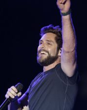 Thomas Rhett performs during the Trip Around the Sun Tour at Chase Field on Saturday, June 23, 2018, in Phoenix, Arizona. (Photo by Rick Scuteri/Invision/AP)