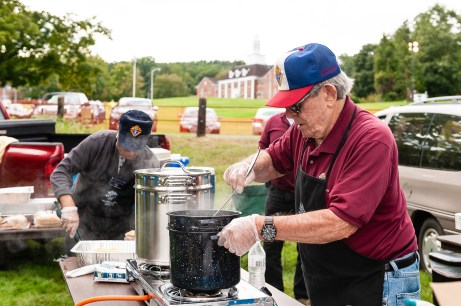 SOUTHBURY, CT. 22 September 2018-092218 - Mario Nizzardo of the Southbury Knights of Columbus council 5066 stirs up a big pot of chili during the Southbury Celebration on the Southbury Training School Grounds in Southbury on Saturday. Bill Shettle Republican-American