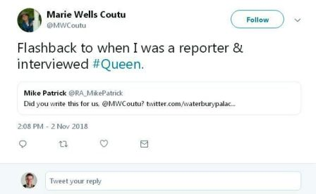 WATERBURY - Marie Wells Coutu, who interviewed members of the band Queen at the launch of their first American tour in Waterbury, went on to become an author of religious fiction. We reached out to her on Twitter.