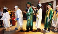 Graduates enter their ceremony Wednesday during the Wilby High School graduation in Waterbury.Steven Valenti Republican-American