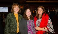 Susan Meek and Megan Pienczykowski of Post University, with Marya DiPerna with the United Way of Greater Waterbury, at the Main Street Waterbury's Annual Community Partnership Award ceremony held at the Palace Theater in Waterbury. Jim Shannon Republican-American