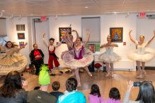 """WOODBURY, CT. 24 November 2019-112419BS213 - Dancers of the Main Street Ballet of Woodbury perform a dance from the popular Christmas Tale """" The Nutcracker"""" for children and families at the Woodbury Public Library gallery on Sunday. Bill Shettle Republican-American"""