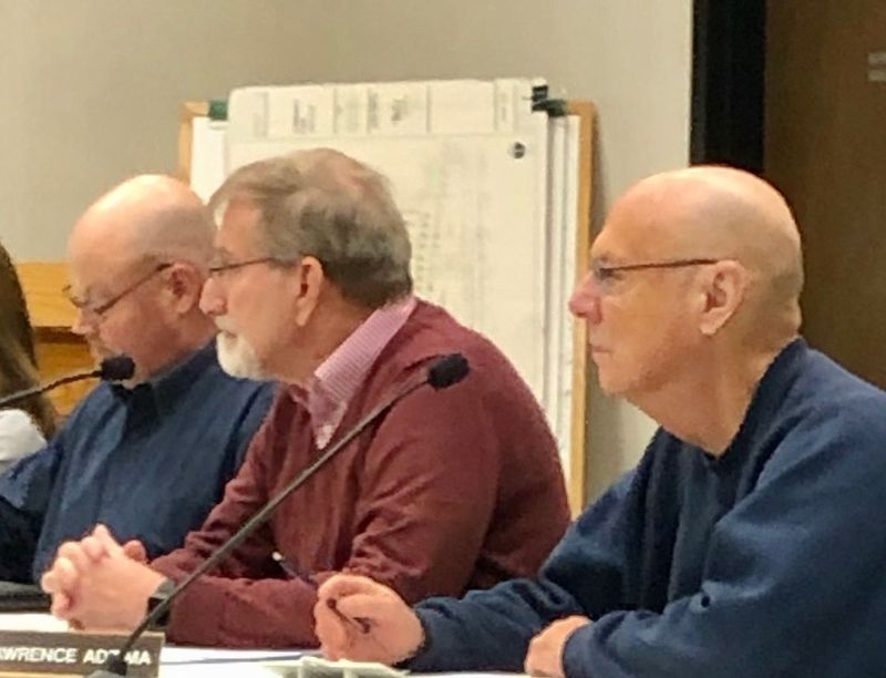 SOUTHBURY -- Southbury Planning Commission members, from left, Robert Harrison, Ronald Conti and Lawrence Adzima.Steve BighamRepublican-American
