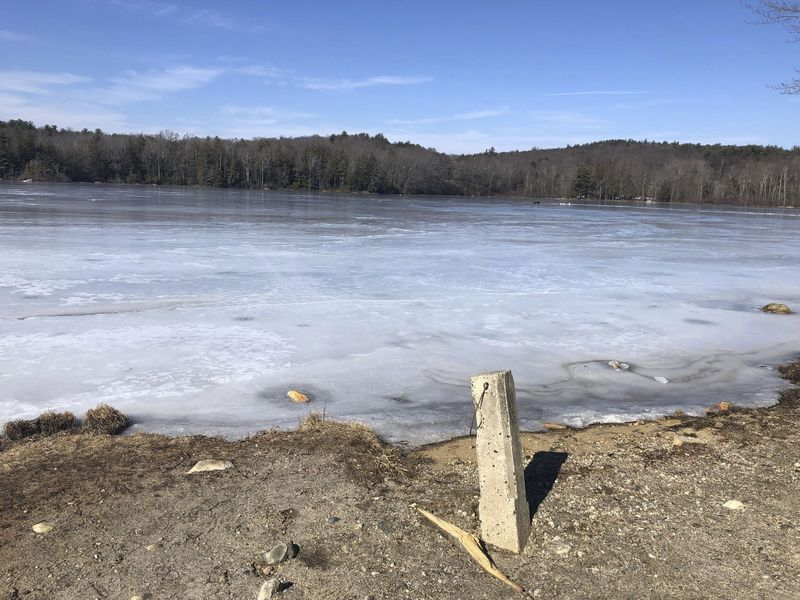 A group of ice fishermen tried to enjoy Sunday