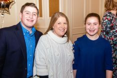 Grandchildren of Dr. Carl Sherter, Matthew Sherter, 15, and Emma Sherter, 12, with their mother Suzanne Sherter of Ridgefield, at a retirement party for Dr. Sherter of Waterbury Hospital at Aria Banquet Facility in Prospect. The party, hosted by Waterbury Pulmonary, brought together 150 colleagues to honor Dr. Sherter for 52 years of service to the medical community.Jim Shannon Republican-American
