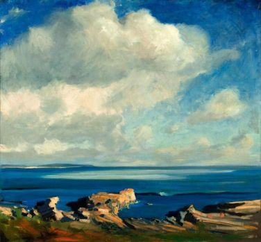 'Clouds,' by Jay Hall Connaway. The work is part of an exhibit, 'The Art and Artists of Monhegan Island: Selections from the Charles J. and Irene Hamm Collection of Coastal Art' at the New Britain Museum of American Art.