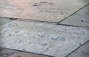 Olivia de Havilland's 1952 inscription appears in cement in front of the TCL Chinese Theatre in Los Angeles. (Associated Press)