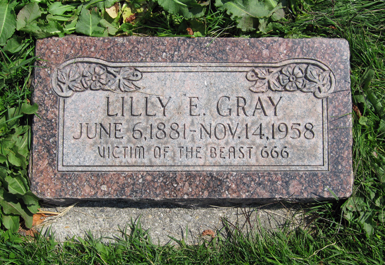 Lilly E. Gray gravestone