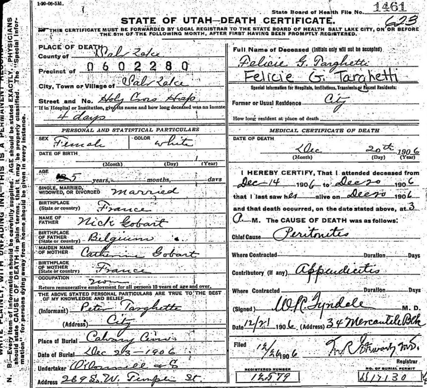 Ten Years Of Death Certificates Utah State Archives And Records