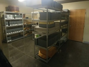 Image of archival room at Hyrum City Museum