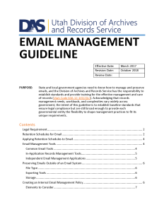 Link to new email management guideline