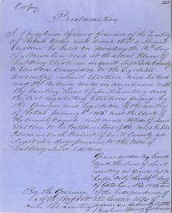 Full text of the proclamation can be found on the digital Archives:  http://images.archives.utah.gov/cdm/ref/collection/12353/id/0