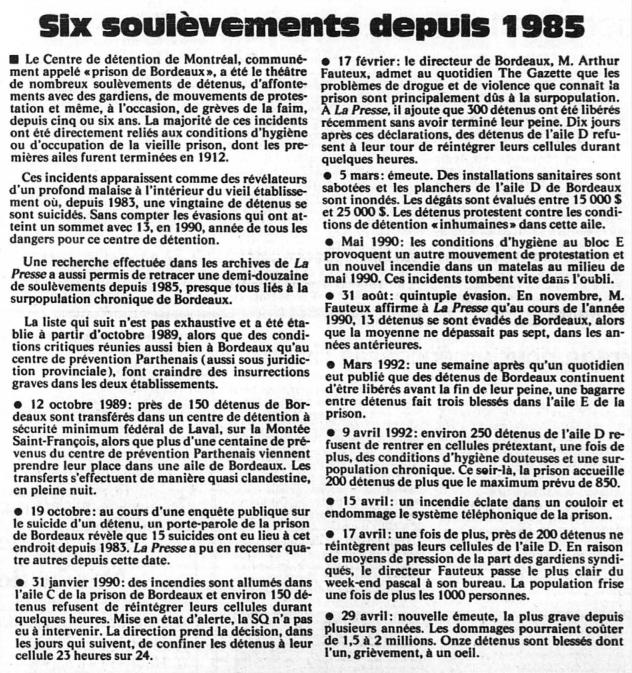 La Presse (mai 1992)