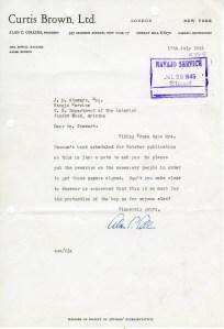 Alan C. Collins to J.M. Stewart; July 17, 1945; Decimal Files, 1936-1942 (NAID 7863878)