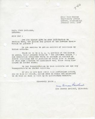 Herron Rowland to Superintendent Fort Defiance, 1/24/1947; Decimal Files (NAID 7863878)