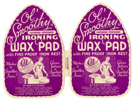 49233 - Ol' Smoothy Perfumed Ironing Wax Pads with Fire-Proof Iron Rest - Master Brands Inc., 1937, NAID 21717444