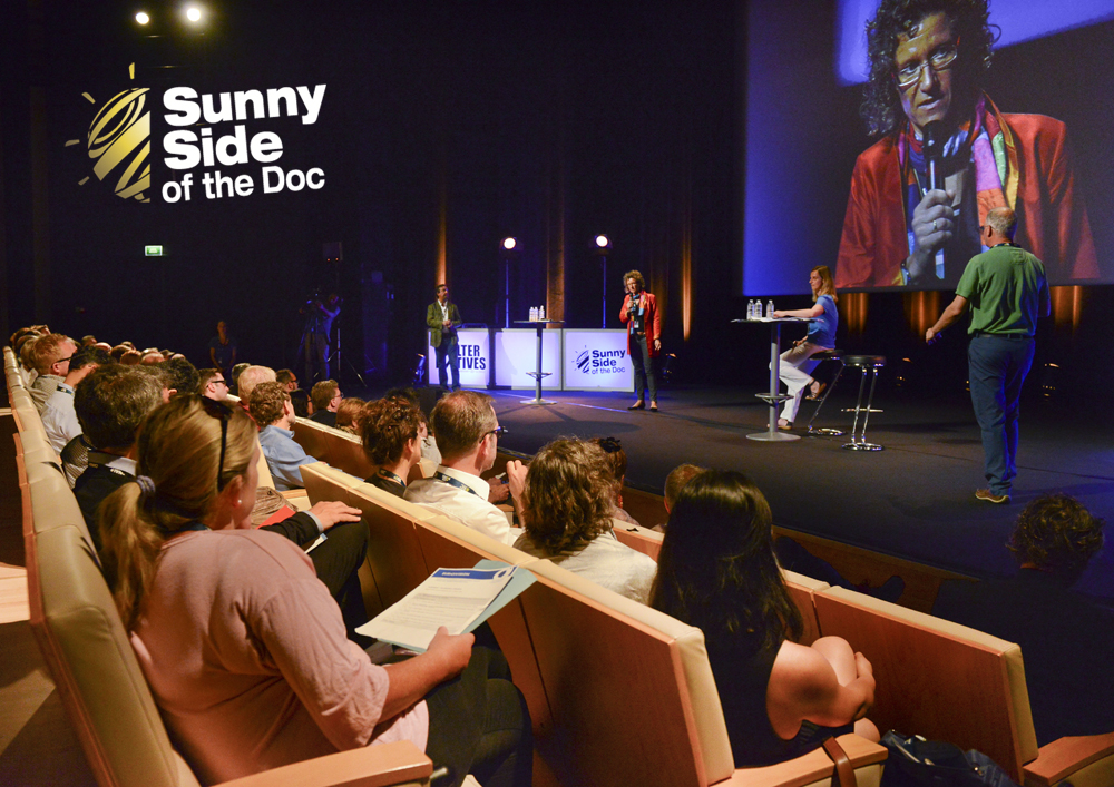 pitch session taking place during the Sunny Side of the Doc documentary and film festival at La Rochelle