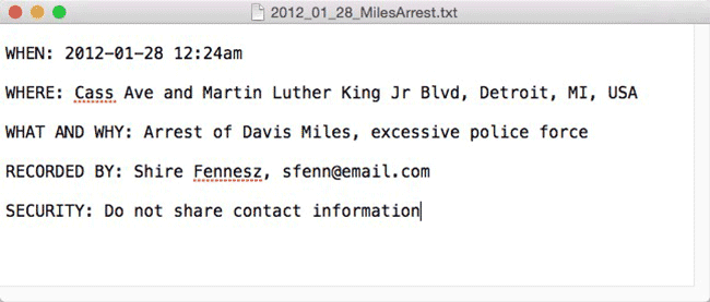 You can enter data in a text document.