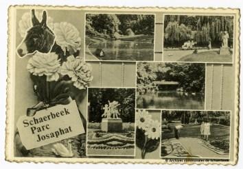 Souvenirs du parc Josaphat à Schaerbeek (carte postale - années 1950)