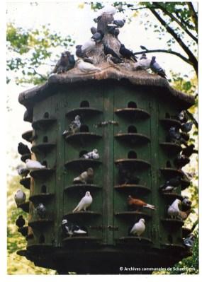 De duiventil in het Josaphatpark in Schaarbeek (circa 1990)