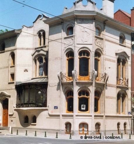 Hôtel Hannon, avenue de la Jonction n°1 (Saint-Gilles), architecte : Jules Brunfaut |Herenhuis Hannon, Verbindingslaan nr. 1 (Sint-Gillis), architect Jules Brunfaut – photo : © Monuments & Sites – Bruxelles