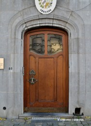 Maison-atelier du sculpteur Fernand Dubois, avenue Brugmann n°80 (Forest), détail de la porte d'entrée, architecte : Victor Horta | Huis-atelier van beeldhouwer Fernand Dubois, Brugmannlaan nr.80 (Vorst), detail van de toegangsdeur - photo : © Monuments & Sites – Bruxelles
