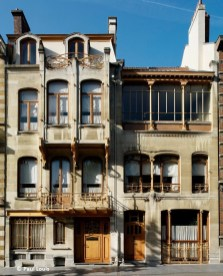 Maison Horta (Musée Horta), rue Américaine n° 23-25 (Saint-Gilles), architecte : Victor Horta | Huis Horta (Hortamuseum), Amerikastraat nr. 23-25 (Sint-Gillis), architect : Victor Horta – photo : © Paul Louis (Wikicommons)