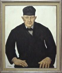 Constand MONTALD, Portrait de vieux paysan, détrempe sur carton, 1915, 108x90cm, collection du Musée communal de Woluwe-Saint-Lambert