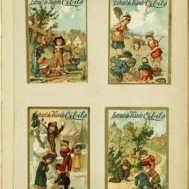 Vignettes commerciales pour enfants, fin XIXe-début XXe siècle, Album II-35-9, Archives de la la Ville de Bruxelles   Commerciële stickers voor kinderen, en 19ste-begin 20ste eeuw), Albul II-35-9, Archief van de Stad Brussel