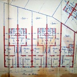 Rue du Corbeau n°112-120, plan, 1902, Archives de l'Urbanisme de Schaerbeek | Raafstraat nr 112-120, plan, 1902, Archieven van de Stedenbouw van Schaarbeek
