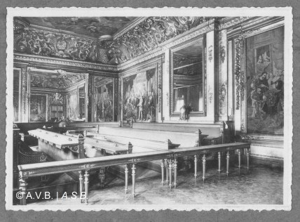 Salle du Conseil, photo, 1951, Collection iconographique (C-754), Archives de la Ville de Bruxelles | Raadzaal, foto, 1951, Iconografisch verzameling (C-754), Archief van de Stad Brussel