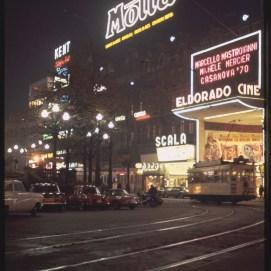 Place de Brouckère, 1965, Archives de l'Urbanisme - Ville de Bruxelles | De Brouckèreplein, 1965, Stedenbouw Archief - Stad Brussel