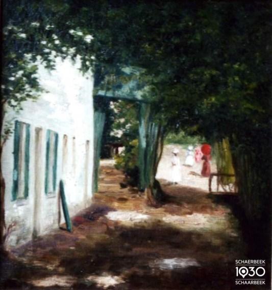 Ely Ragondet, « Le chemin de la Fontaine d'amour », Kunstcollectie van de gemeente (inv. 65)