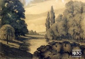 Julien Masson « Le parc Josaphat », Kunstcollectie van de gemeente (inv. 330)