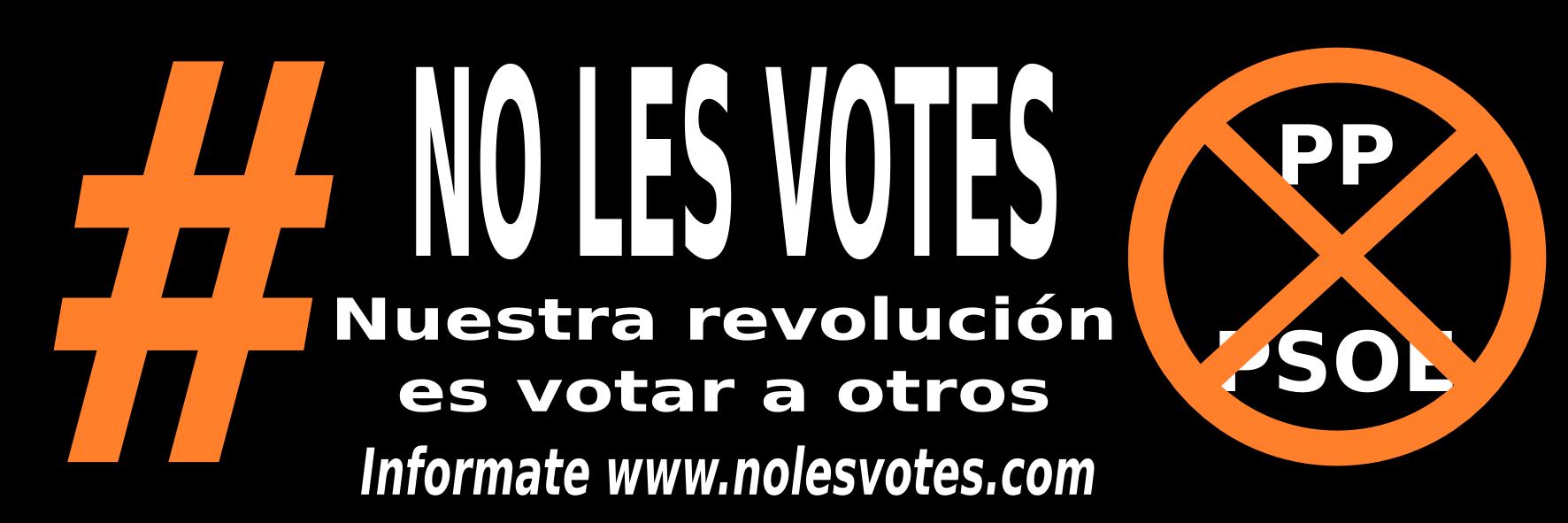 Pegatina #nolesvotes