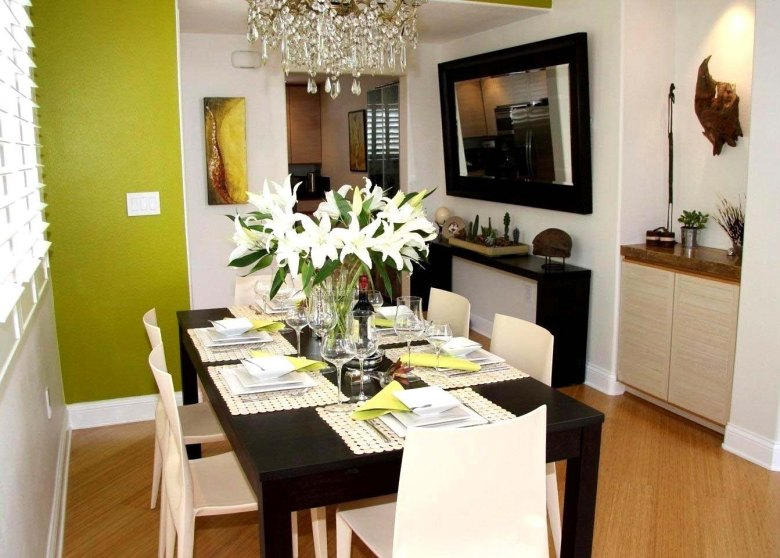 Black Narrow Dining Table