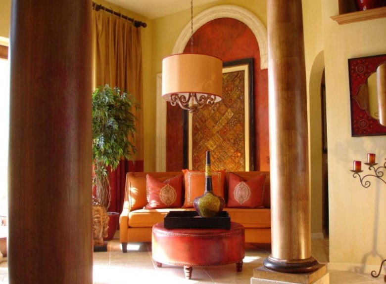 Exotic Elegance Indian Living Room