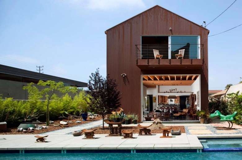 Living Quarter in Metal Building with Pool