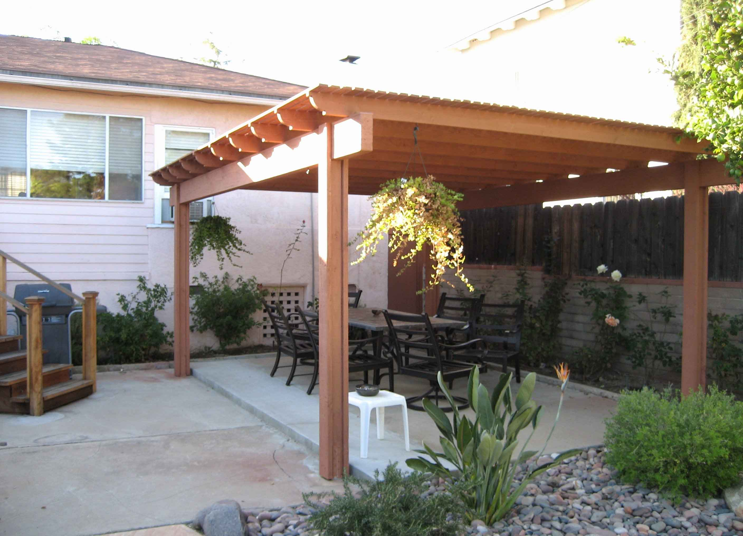 How to Build A Freestanding Patio Cover with Best 10 ... on Backyard Patio Cover Ideas  id=66494