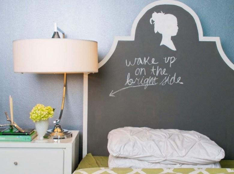 DIY Chalkboard Paint Headboard