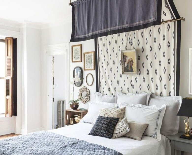DIY Headboard or Canopy with Fabric